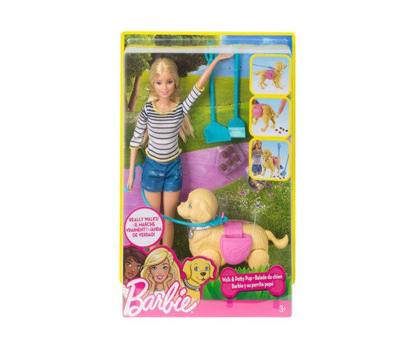 Кукла Barbie - Комплект с ходещо куче